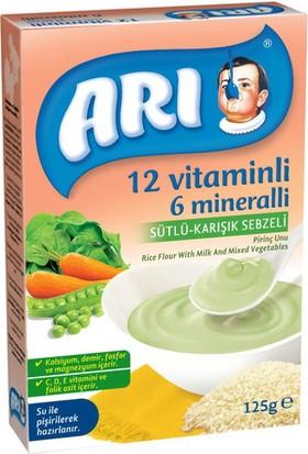 Arı Mama Sütlü Karışık Sebzeli Pirinç Unu 250 gr - 12'li