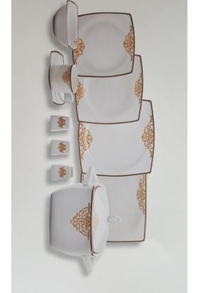 Falez Fıne Bone Porselen 84 Parça Venessa V02 Yemek Takımı Vns 3002