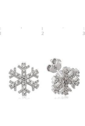 Gumush Gümüş Kar Tanesi Küpe Tktsst1480002E