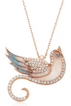 Gumush Gümüş Zümrüdü Anka Kuşu Kolye