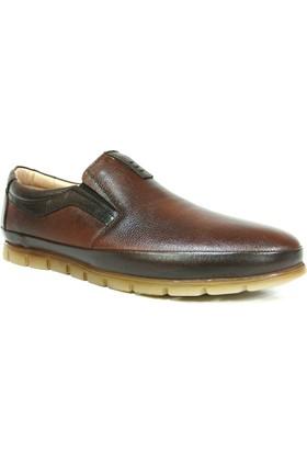 Fancy 301 Kahve Taba Bağcıksız Comfort Erkek Ayakkabı