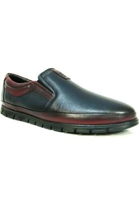 Fancy 301 Lacivert Bordo Bağcıksız Comfort Erkek Ayakkabı