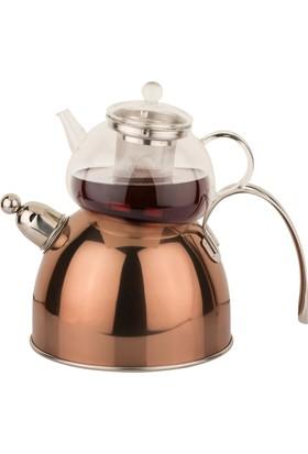Arow S S Bronz Düdüklü Çaydanlık Takımı
