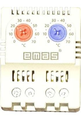 Emas Pano Isıtma ve Soğutma Termostat'ı 0-70°C Ray Tipi - Emas