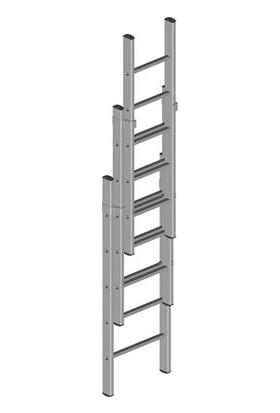 ATM Ateş Üç Parçalı Sürgülü Merdiven 4X3=12 Mt