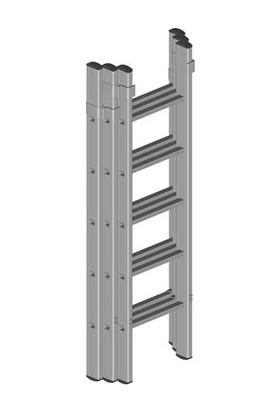 ATM Ateş Üç Parçalı Sürgülü Merdiven 2X3=6 Mt