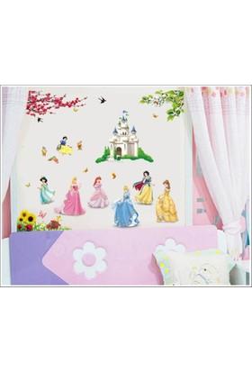 Zooyoo Kız Çocukları Bebek Ve Çocuk Odası Prensesler Şatosu Kül Kedisi Ev Duvar Sticker