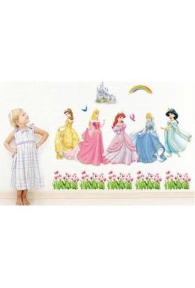 Zooyoo Kız Çocukları Kül Kedisi Bebek Ve Çocuk Odası Prenses Kül Kedisi Şatosu Bahçeli Ev Duvar Sticker Pvc