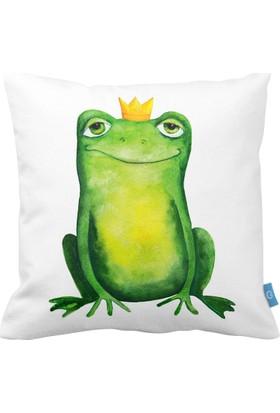 Bc Home Kurbağa Prens Dekoratif Yastık / Kırlent Kılıfı
