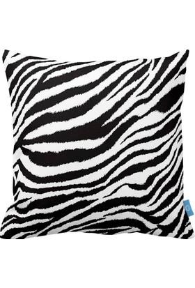 Bc Home Zebra Desenli Dekoratif Yastık / Kırlent Dolgulu