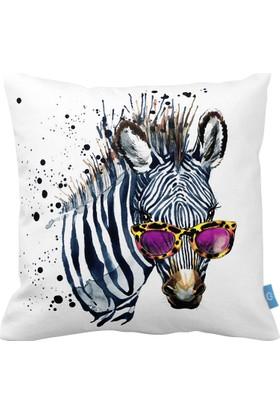 Bc Home Zebra Dekoratif Yastık / Kırlent Kılıfı