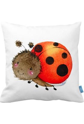 Bc Home Uğur Böceği Dekoratif Yastık / Kırlent Dolgulu