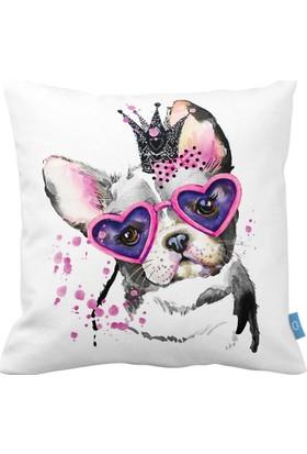 Bc Home Köpek Prenses Dekoratif Yastık / Kırlent Kılıfı