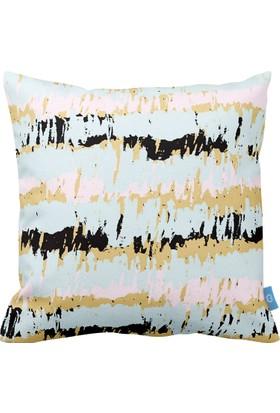 Bc Home Pastel Desenli Dekoratif Yastık / Kırlent Dolgulu