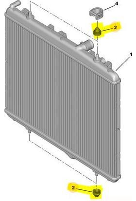 Cey CITROEN DS4 Radyatör Ayağı 2011 - 2015 [ORJINAL] (1312C3)