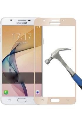 Case 4U Samsung Galaxy J7 Prime Full Kapatan Cam Ekran Koruyucu Altın