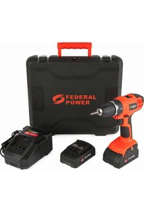 Federal Power Fp-Eal-Tsr14-4Lıbm Akülü Vidalama Çift Akü Lı-On