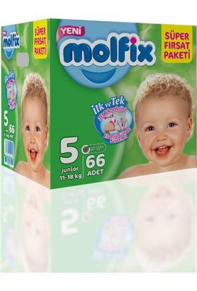 Molfix Bebek Bezi 5 Beden Junior Süper Fırsat Paketi 66 adet