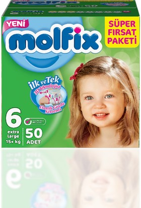Molfix Bebek Bezi Süper Fırsat Paketi 6 Beden 50 Adet