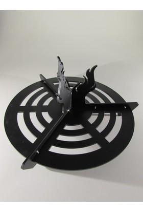 Metal Tasarım Şömine Izgarası Alevli
