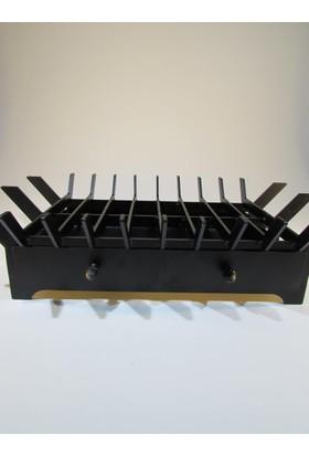 Metal Tasarım Şömine Izgarası Çekmeceli Düz
