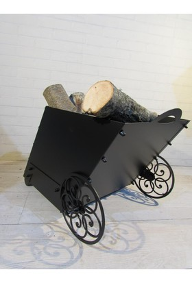 Metal Tasarım Şömine Odun Kutusu