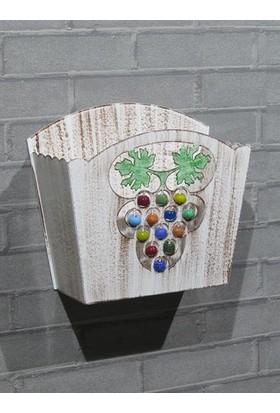 Metal Tasarım Kapı Sepeti Üzüm