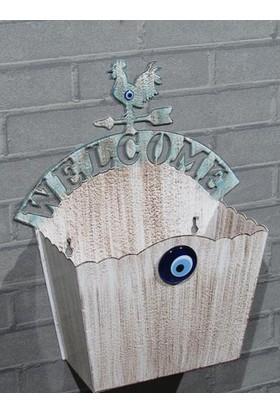 Metal Tasarım Kapı Sepeti Welcome