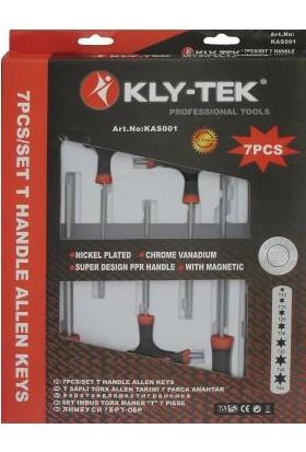 Kly Tek T Saplı Tork Allen Takımı 7 Parça Anahtar