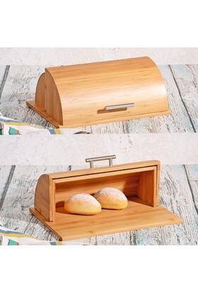 Bambu Geniş Ekmek Dolabı