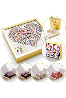 Hacı Şerif Farklı Dillerde Seni Seviyorum Çikolatası (4 Farklı Lezzet) 240 gr