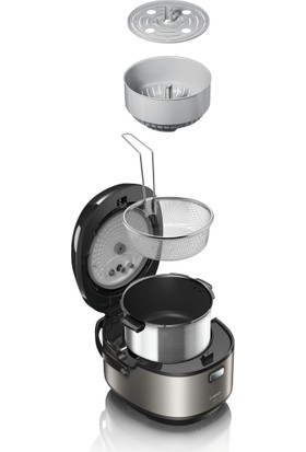 Bosch Auto Cook Pro MUC88B68TR Çoklu Pişirici Metalik / Siyah