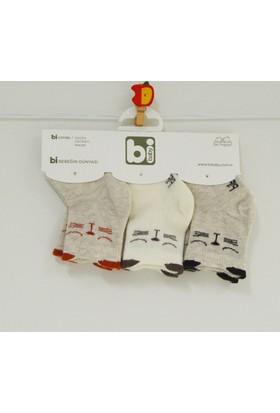 Bibaby 68132 Kedili 3'lü Bebek Çorabı