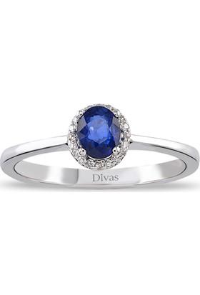 Divas Love Pırlanta Safir Altın Yüzük