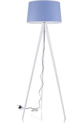 Sezay Lambader Beyaz Şapka Mavi