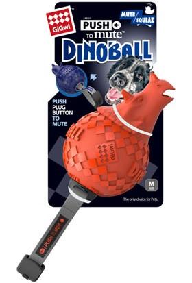 GiGwi 6462 Dinoball Turuncu Dinazor Sesli Oyuncak