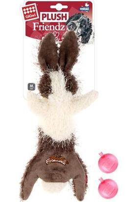 GiGwi 6254 Plush Friendz Sesli Tavşan Peluş Köpek Oyunca