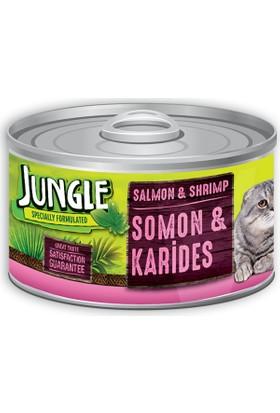 Jungle Kedi 85 gr Somonlu-Karidesli Yaş Ezme Mama