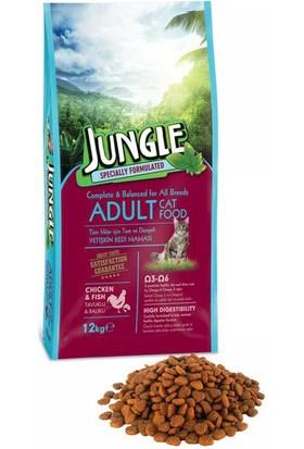 Jungle 12 kg Tavuk-Balıklı Yetişkin Kedi Maması