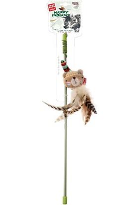 GiGwi 7243 Peluş Tüylü Ayı Oyuncaklı Kedi Oltası