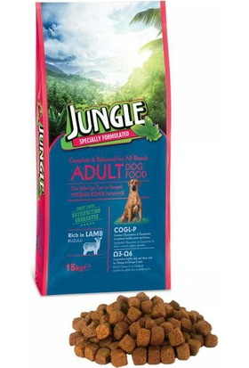 Jungle 15 kg Kuzu Etli Yetişkin Köpek Maması