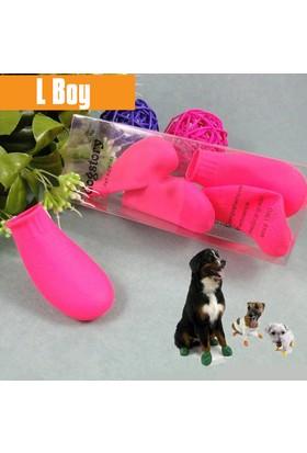 Dog Story Large Pembe Galoş