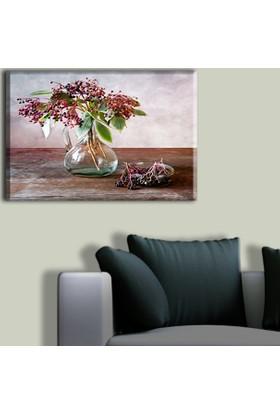 Tablo Art House Yağlı Boya Vazo ve Çiçek Tek Parça Kanvas Tablo 30 x 40 cm