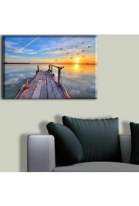 Tablo Art House Ahşap İskeleden Günbatımı Tek Parça Kanvas Tablo 30 x 40 cm