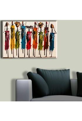 Tablo Art House Afrika Kabilesi Tek Parça Kanvas Tablo 30 x 40 cm