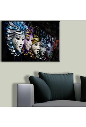 Tablo Art House Maskeler Tek Parça Kanvas Tablo 30 x 40 cm