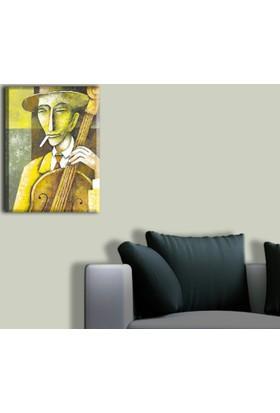 Tablo Art House Müzisyenler Serisi Tek Parça Kanvas Tablo 30 x 40 cm