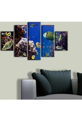 Tablo Art House Denizaltı 5 Parça Kanvas Tablo 60 x 100 cm