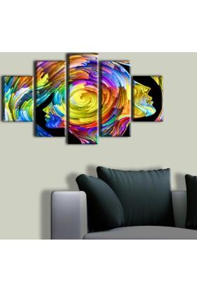 Tablo Art House Akıl Oyunları 5 Parça Kanvas Tablo 60 x 100 cm