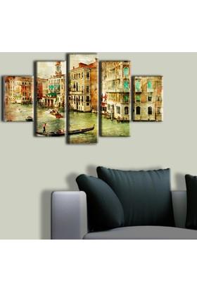 Tablo Art House Vedenik Manzarası 5 Parça Kanvas Tablo 60 x 100 cm